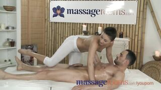 Massage Rooms Concupiscent youthful masseuse copulates large shlong and has intensive big O