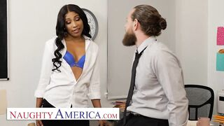 Wicked America hawt employee Olivia Jayy definitely gets Her Way Out Of Trouble at work by using her ASSets