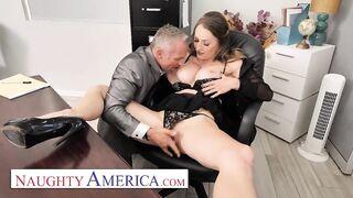 Wicked America - Large titties boss Natasha Starr bangs her recent employee