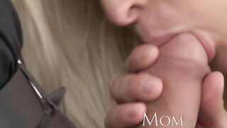 MAMMA Incredible sexy aged blond has multiple orgasms then a creampie