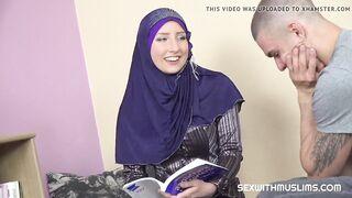 Hot muslim teacher gives particular lesson