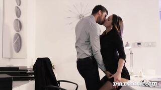 Privatecom - Secretary Barbara Bieber bangs her boss