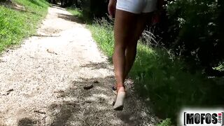Mofos - Cherry Kiss takes a large load in the woods
