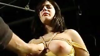 fastened breasts, groped and tortured