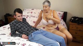 Old lady Savana drilled by student Sam Bourne by AgedLove