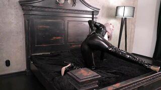 Ebony Latex Rubber Catsuit Compilation Movie Scene by Arya Grander Free XXX Fetish Movie Scene