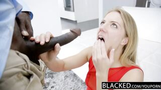 BLACKED Golden-Haired Candice Dare Booty Screwed by Biggest African Schlong