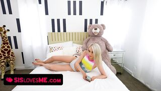 Slim Vixen Scarlett Hampton Enjoys A Undress Poker Game With Her Large Stepbrother And Lets Him Win