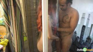 concupiscent step sister has sex in the shower with her concupiscent stepbrother - family therapy