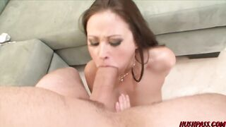 Cute Sindee Jennings Breaks her Jaw on Giant White Knob