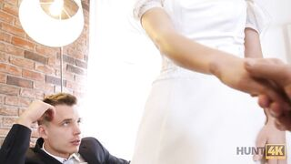 HUNT4K. Czech newlywed for cash gets fucked in front of her groom