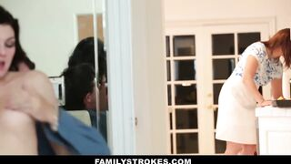 FamilyStrokes - Wicked stepdaughter screws step-daddy during the time that mommy cooks