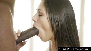 BLACKED Fashion Model Anna Mornas 1st Time with a BBC