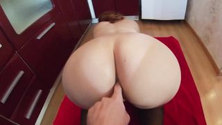Mama made tea and oral sex for stepson. Large and older booty anal