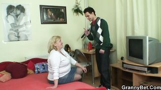 GRANNYBET - Biggest titted granny and male