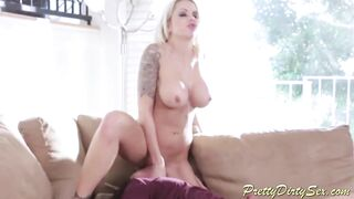 Breasty golden-haired mother I'd like to fuck is blackmailed by her stepson