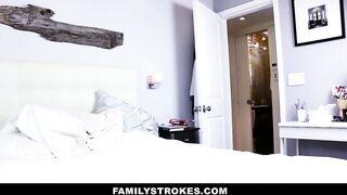 Family Strokes - Creepy Step Brother Stalks and Screws Step-Sister