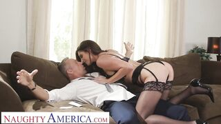 Nasty America - Silvia Saige cleans up a mess in advance of banging a married stud