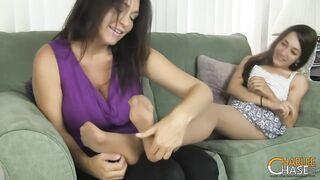 Charlee Pursue - My Son's Girlfriend Ticklish Nylon Feet