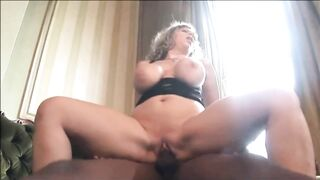 Sara is sucking a large, ebony wang to make it hard sufficiently for her juicy snatch